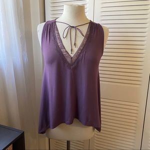 AEO| XS |Soft & Sexy Purple Lace Tank Top